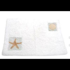 New seaside white cotton bathmat